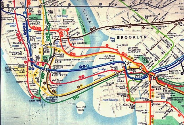 New York Subway Map Interactive: Map New York Interactive At Usa Maps